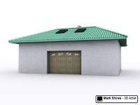 Garage Building - Low Polygon