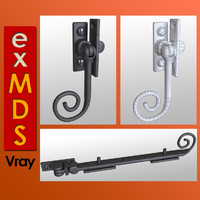 ornate window furniture 3d 3ds