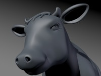 Cow Model with UVs