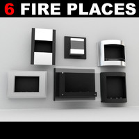 fireplaces 3d max