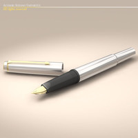fountain pen 3d dxf