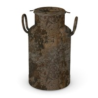 3d old milk barrel model
