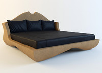 3d model bed turri pegaso