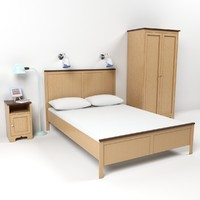 3d model closet bed lamp