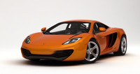 3d mclaren mp4-12c rigged car model