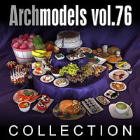 3d archmodels vol 76 food model