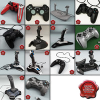 controllers joysticks 3d model