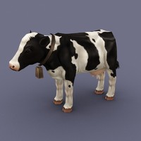 3d animal cow cartoon model