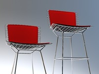 Bertoia Side and Bertoia bar chair