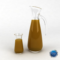 pitcher glass juice 3d max