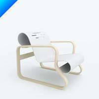 3d paimio armchair 41