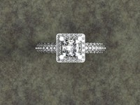 rhino ring princess cut pave