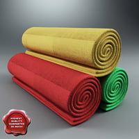 bath towels v2 3d model