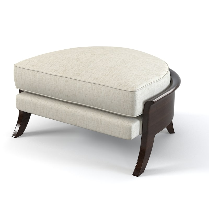 Christopher Guy Elegant Horshoe Shaped Ottoman Pouf  60-0104 modern contemporary designer 0001.jpg