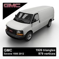 free 2012 gmc savana 1500 3d model