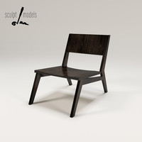 3ds max charlie lounge chair