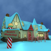 santas workshop 3d model