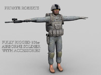 3d model roberts soldiers 101st airborne