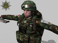 soldier british royal 3d max