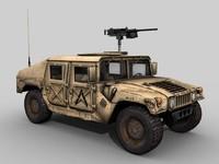 desert hmmwv 3d model