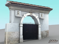italian villa main entrance 3d model