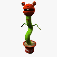cartoon plant flowie 3d model