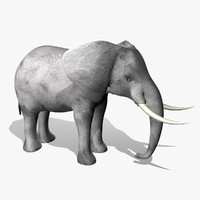 3d model elephant animation