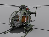 3d model army huey oh6a