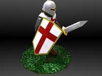 3d model fantasy medieval soldier