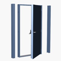 3d max steel security door