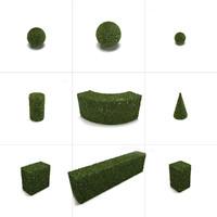 3d model garden hedge