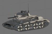3d model tank treads