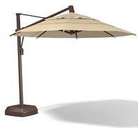 Coral coast offset  Sunbrella sun umbrella big patio