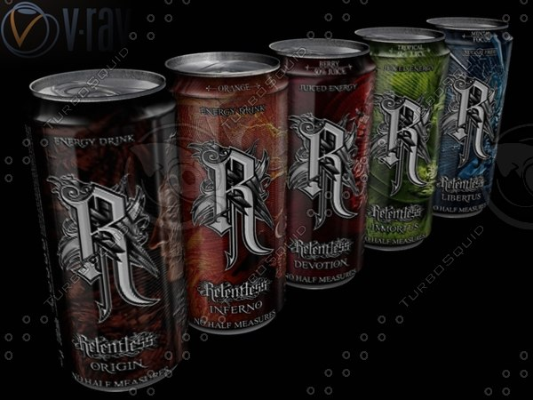 3d model energy drink relentless cans - Relentless Energy Drink Can... by Swarf3ga