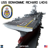 3ds max uss bonhomme richard lhd-6
