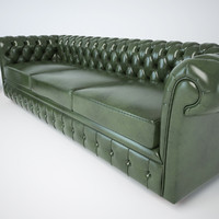3d classic chesterfield sofas chair model