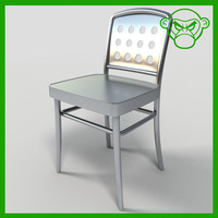 3d model dining cafe metal chair