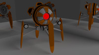 simple droid rigged 3d model