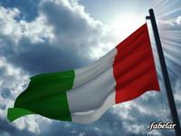 italian flag 3d max