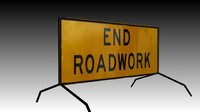 End Roadworks Sign