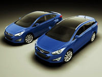 hyundai i40 sedan wagon 3d model