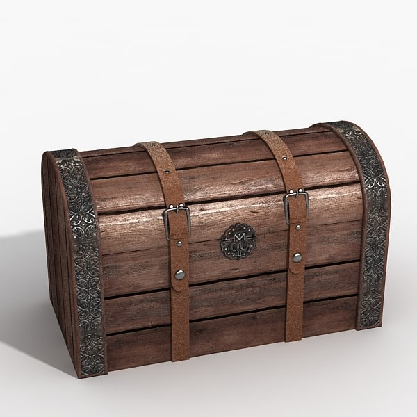 Wooden Chest Wooden chest 3d max