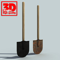 shovel modelled 3d model