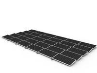 3d model of solar cell