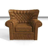 3d model devon 1 seater leather chair