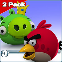 2Pack: Angry Birds (Pig King & Red)