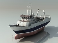 3d model of stern trawler