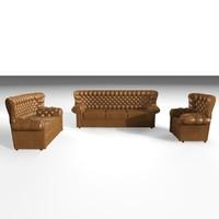 devon armchairs 3d model