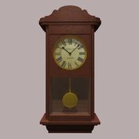 3d model clock grandfather