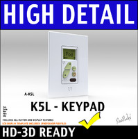 Russound A-K5L Keypad with LCD Display 3D Model
